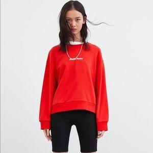 Red Graphic Sweatshirt